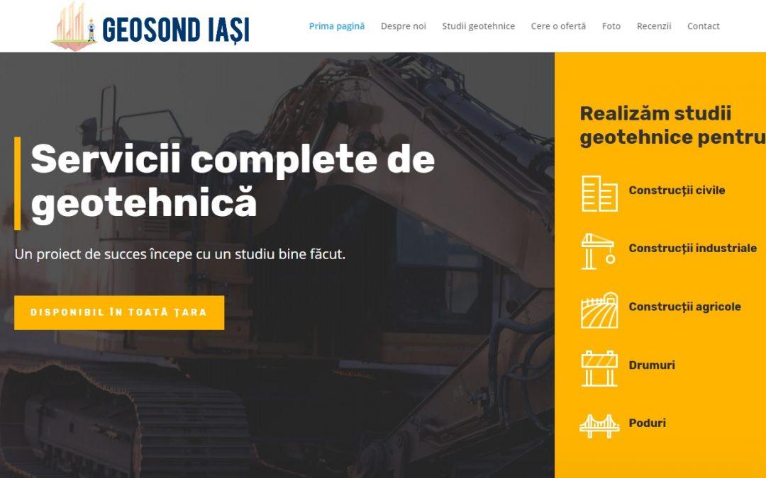 (Portofoliu) Geosond Iași – Servicii complete de geotehnică